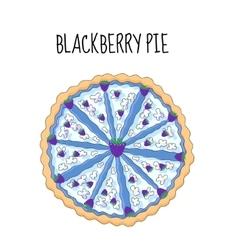 Blackberry cake birthday cake Baking with vector image