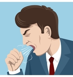 Coughing man vector image vector image