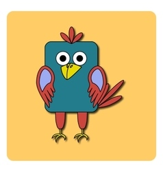 Flat bird design isolated on color background vector image vector image