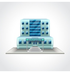 Hospital building isolated vector image vector image