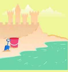 summer fun - sea beach background vector image vector image