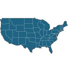 usa states border map vector image vector image