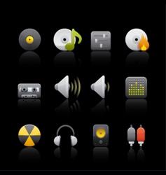 audio equipment vector image vector image