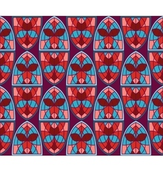 Seamless Pattern with Stained Glass Windows vector image
