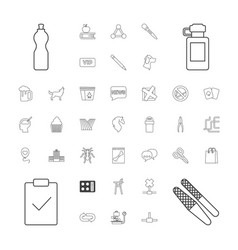 37 shadow icons vector