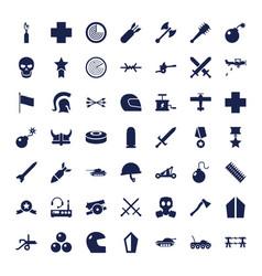 49 war icons vector