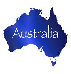 australia map with white background vector image