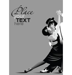 Ballroom dancing poster vector