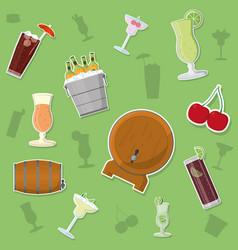 Bar drinks background vector
