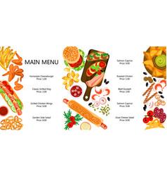 beautiful fast food set vector image