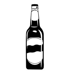 beer bottle icon alcohol drink vector image