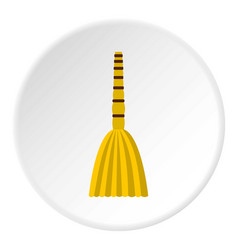 Besom icon circle vector