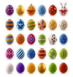 big set easter eggs vector image