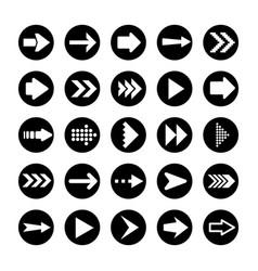 black arrows set on white background arrow vector image