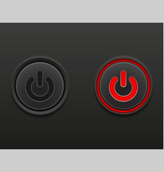 black media button power on and off position stock vector image