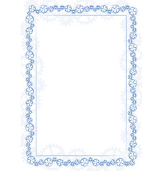 Blue frame and border with gear-type mechanism vector