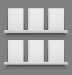 book cover on shelves mobile app web layout vector image