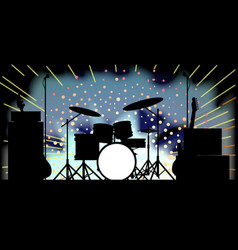 Bright rock band stage vector