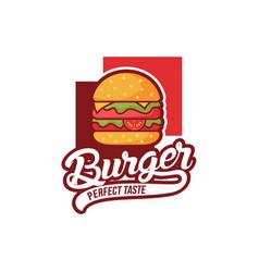 burger logo design vector image