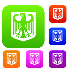 coat of arms of germany set collection vector image