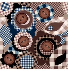 Collage with buttons vector