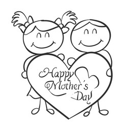 Collection of mother day theme vector