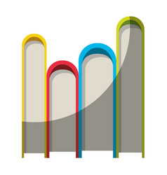 Colorful graphic of stack of books without contour vector