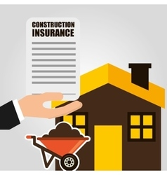 Construction insurance vector