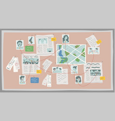crime research board flat vector image