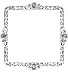 Decorative frame for design vector image