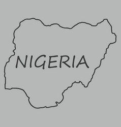 Detailed nigeria map vector