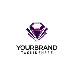 diamond jewelry logo design concept template vector image