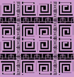 elegant violet greek key meander geometric vector image