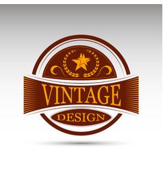 Emblemvintage design vector