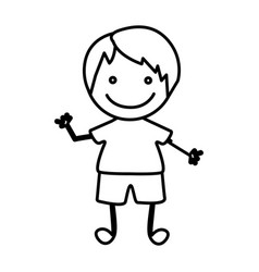 Figure happy boy icon vector