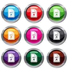 File mp3 set 9 collection vector