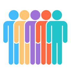 five man sign people icon vector image