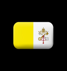 flag of vatican city matted icon and button vector image
