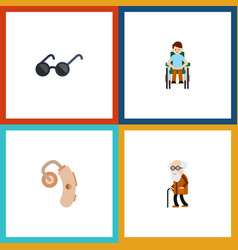 Flat icon disabled set disabled person vector