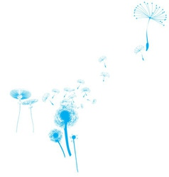Flying flowers vector