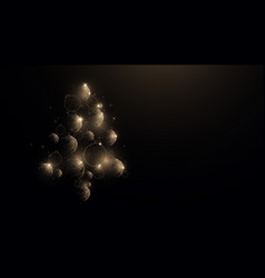 gold christmas balls in christmas tree shape vector image