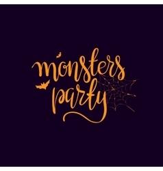 Halloween party template typography elements vector