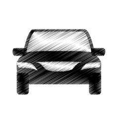 hand drawing car transport design icon vector image