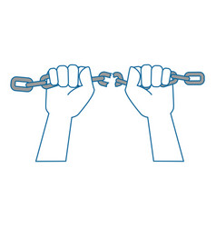 Hand grabbing a chain icon vector