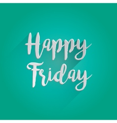 Happy Friday Lettering Design vector