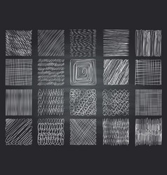 Hatching textures pencil sketching shading grunge vector