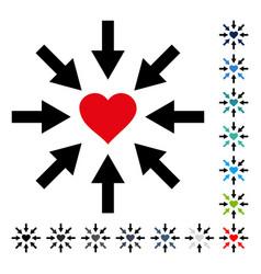 Impact love heart icon vector