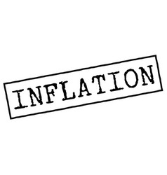 Inflation typographic stamp vector