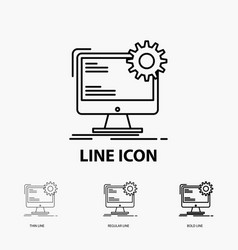 internet layout page site static icon in thin vector image
