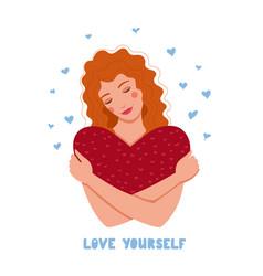 Love yourself flat conceptual vector